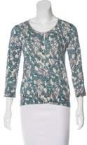 TSE Silk-Trimmed Cashmere Sweater