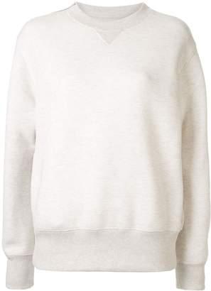 Sacai zipped shoulder sweater