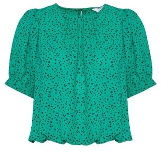 Dorothy Perkins Womens Dp Petite Green Blouse, Green