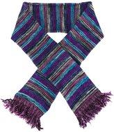 YMC striped frayed scarf
