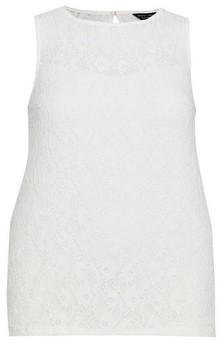 Dorothy Perkins Womens **Dp Curve White Lace Front Vest, White