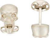 Deakin & Francis Men's Skull Cufflinks-SILVER