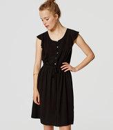 LOFT Tall Pintucked Flutter Dress