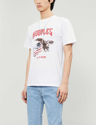 The Kooples Need For Freedom graphic cotton-jersey T-shirt