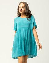 Hip Ruffle Sleeve Babydoll Dress