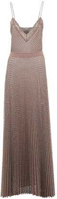 Missoni Pleated Lurex Knit Midi Dress