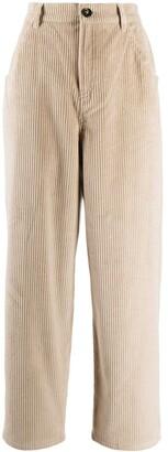 L'Autre Chose Corduroy Cotton Cropped Trousers