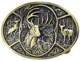 Buckle Rage Adult Men's Deer Hunting Woods Buck Southern Antler Head Belt Buckle