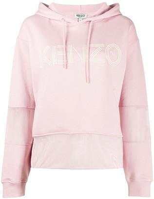 Kenzo mesh panel hoodie