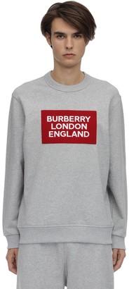 Burberry Logo Patch Cotton Jersey Sweatshirt