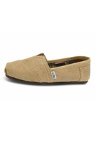 Toms Natural Burlap Alpergata Shoes