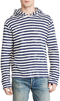 Denim & Supply Ralph Lauren Long Sleeve Hoodie, Sea Spray Stripe