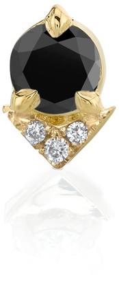 Lizzie Mandler Black Diamond Spike Single Stud