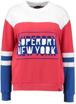 Superdry PACIFIC COLOUR BLOCK HIGH NECK CREW Sweatshirt flare red
