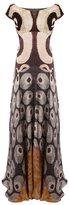 Afroditi Hera pleated off shoulder dress - women - Silk/Polyester/Viscose - 42