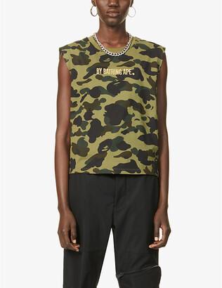 Bape 1st Camo-Print Cotton-Jersey Vest
