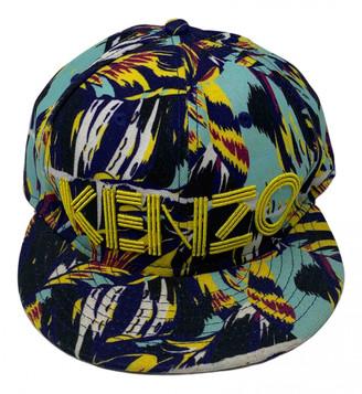 Kenzo Blue Cloth Hats & pull on hats