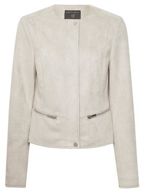 Dorothy Perkins Womens Pebble Suedette Collarless Jacket