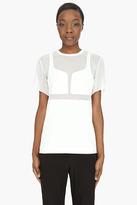 ALEXANDER WANG Ivory Integrated Breast Plate t-shirt