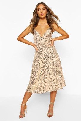 boohoo Bridesmaid Occasion Sequin Detail Midi Dress