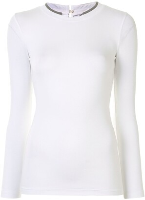 Brunello Cucinelli mock collar jersey T-shirt