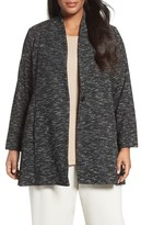 Eileen Fisher Plus Size Women's Tweedy Organic Cotton Blend Jacket