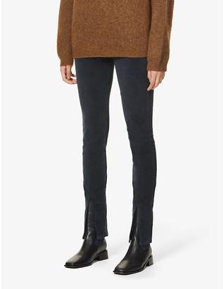 3x1 Kaia skinny high-rise stretch-cotton velvet jeans
