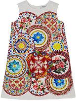 Dolce & Gabbana Floral-Print Brocade Shift Dress