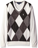 U.S. Polo Assn. Men's Argyle V-Neck Sweater