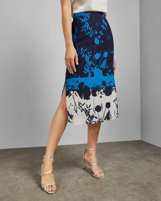 Ted Baker Bluebell Side Slit Midi Skirt