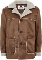 Topman Tan Faux Fur Shearling Jacket