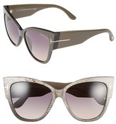 Tom Ford Women's Anoushka 57Mm Gradient Cat Eye Sunglasses - Dove Grey/ Grey Gradient
