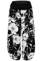 MeiC Women's Printed Comfy Chic Lounge Boho Harem Pants One