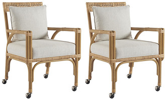 One Kings Lane Set of 2 Sarasota Side Chairs - Natural