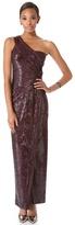 Donna Karan One Shoulder Sequin Gown