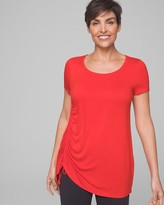 Side Ruched Tunic Tee