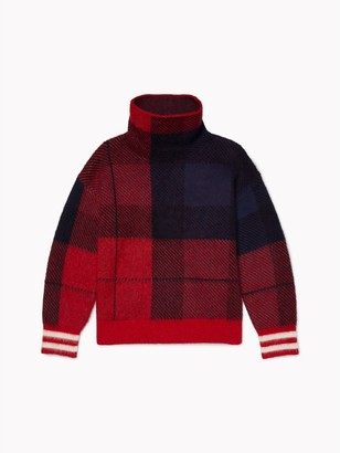 Tommy Hilfiger Check High Neck Sweater