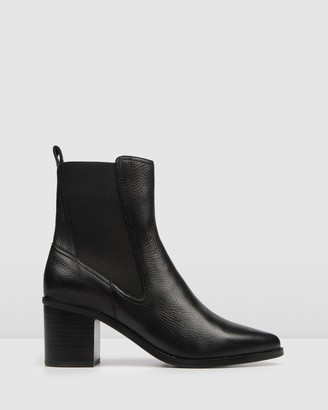 Jo Mercer - Women's Black Heeled Boots - Ace Mid Ankle Boots - Size One Size, 38 at The Iconic