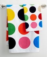 "French Bull Multicolor Dot Printed 27"" x 50"" Bath Towel"