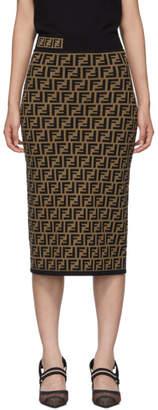 Fendi Brown Forever Skirt