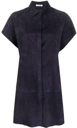 P.A.R.O.S.H. Short Sleeve Suede Shirt