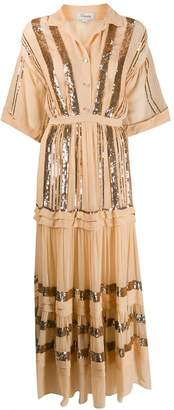 Temperley London sequined crepe maxi dress