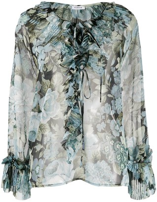 P.A.R.O.S.H. sheer floral printed blouse