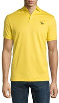 Ralph Lauren Embroidered-Pony Short-Sleeve Pique Polo Shirt, Gold