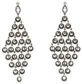 Loree Rodkin 18K Multi Circle Diamond Chandelier Earrings