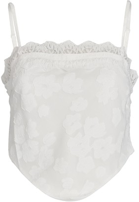 Night Night By Jonathan Simkhai Floral Lace-Trimmed Camisole