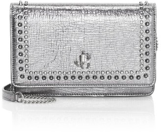 Jimmy Choo Palace Studded Metallic Leather Crossbody Bag