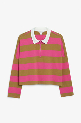 Monki Cropped rugby top