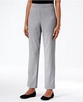 Alfred Dunner Petite Classics Straight-Leg Pull-On Ponte Pants