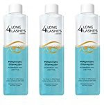 Long 4 Lashes by Oceanic, Two-Phase Conditioning Eye Make-Up Remover with Biotin, 8.45 Oz (Pack of 3) + FREE Curad Bandages 8 Ct.